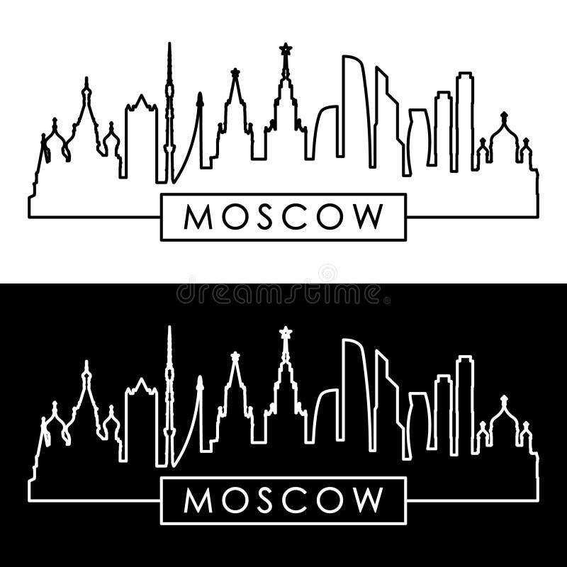 κύριο ομοσπονδιακό θέμα οριζόντων της Μόσχας πιό πυκνοκατοικημένο Ρωσία γραμμικό ύφος ελεύθερη απεικόνιση δικαιώματος