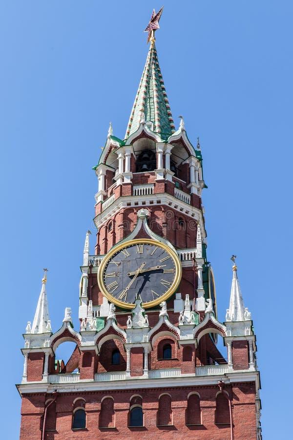 Κύριο ρολόι της Ρωσίας, Μόσχα Κρεμλίνο, Μόσχα, Ρωσία στοκ φωτογραφία με δικαίωμα ελεύθερης χρήσης