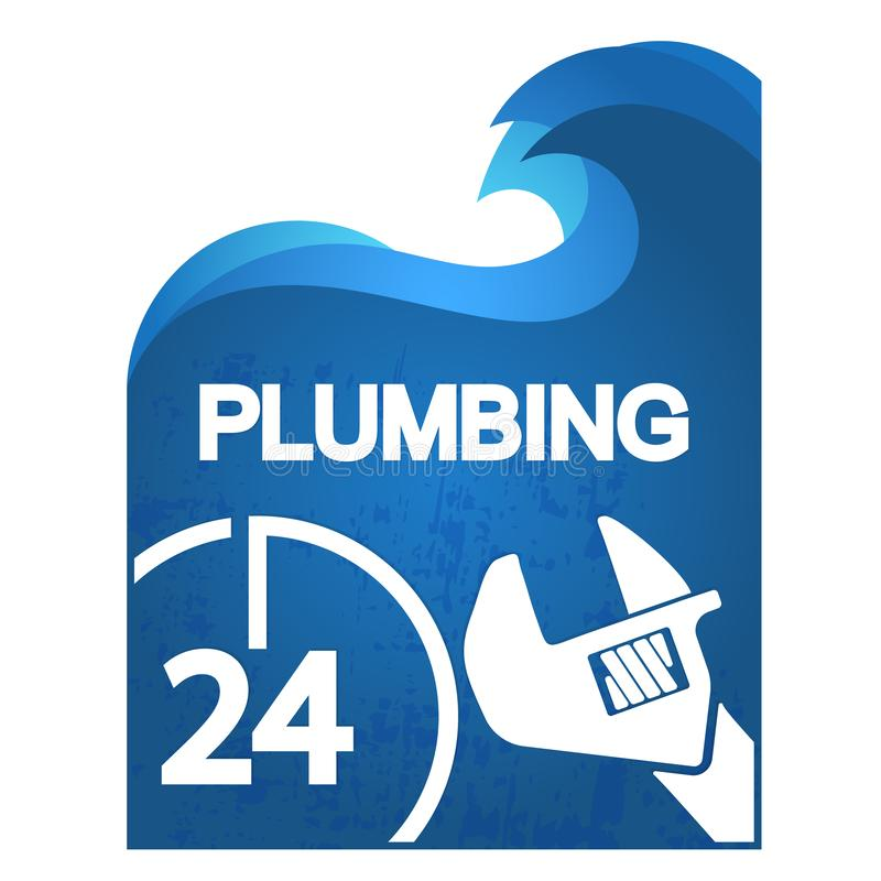 Κύριο σύμβολο υδραυλικών επισκευής απεικόνιση αποθεμάτων