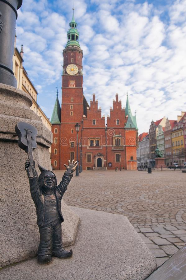 Κύριο τετράγωνο σε Wroclaw Πολωνία στοκ εικόνες με δικαίωμα ελεύθερης χρήσης
