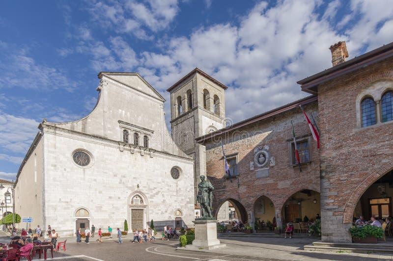 Κύριο τετράγωνο Cividale del Friuli στοκ φωτογραφίες με δικαίωμα ελεύθερης χρήσης