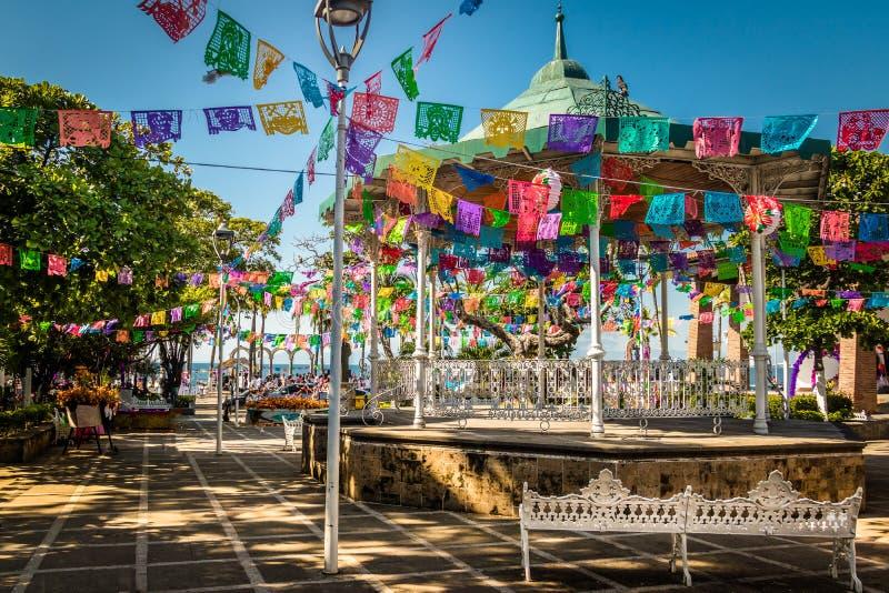 Κύριο τετράγωνο - Puerto Vallarta, Jalisco, Μεξικό στοκ εικόνες