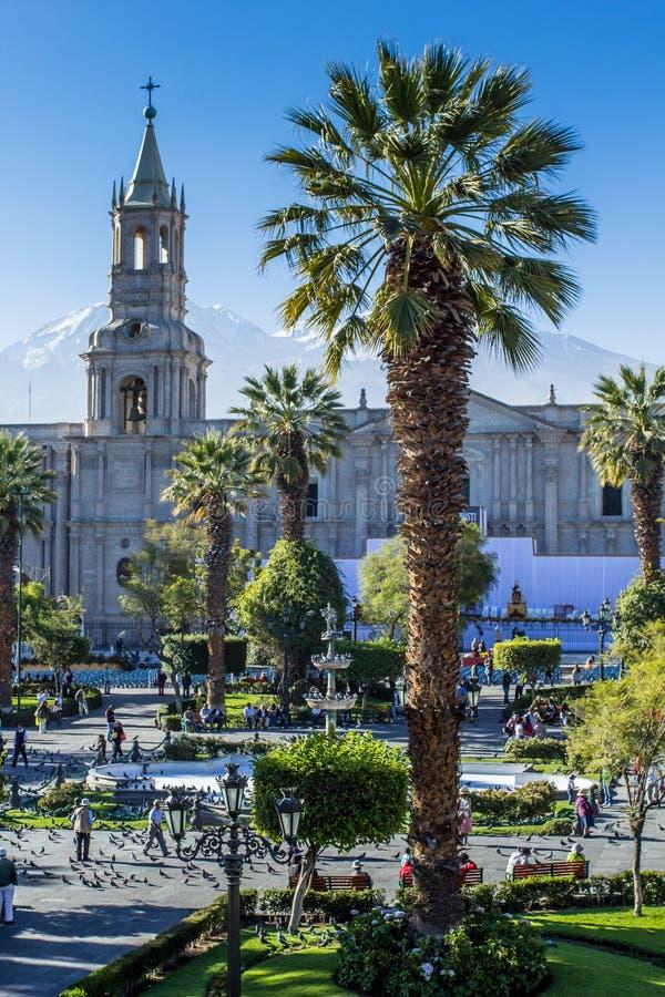 Κύριο plaza σε Arequipa, Περού στοκ φωτογραφία με δικαίωμα ελεύθερης χρήσης