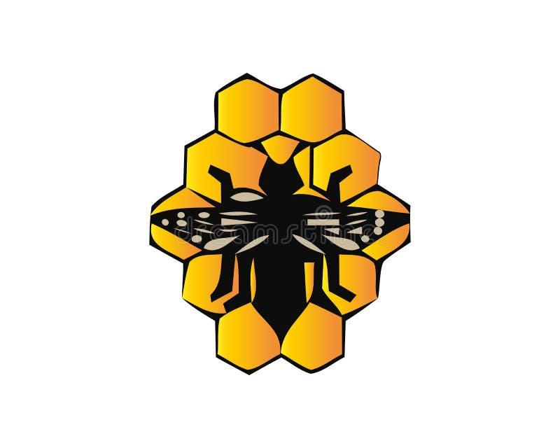 Κύτταρα μελισσών και μελιού που απομονώνονται στο υπόβαθρο r απεικόνιση αποθεμάτων