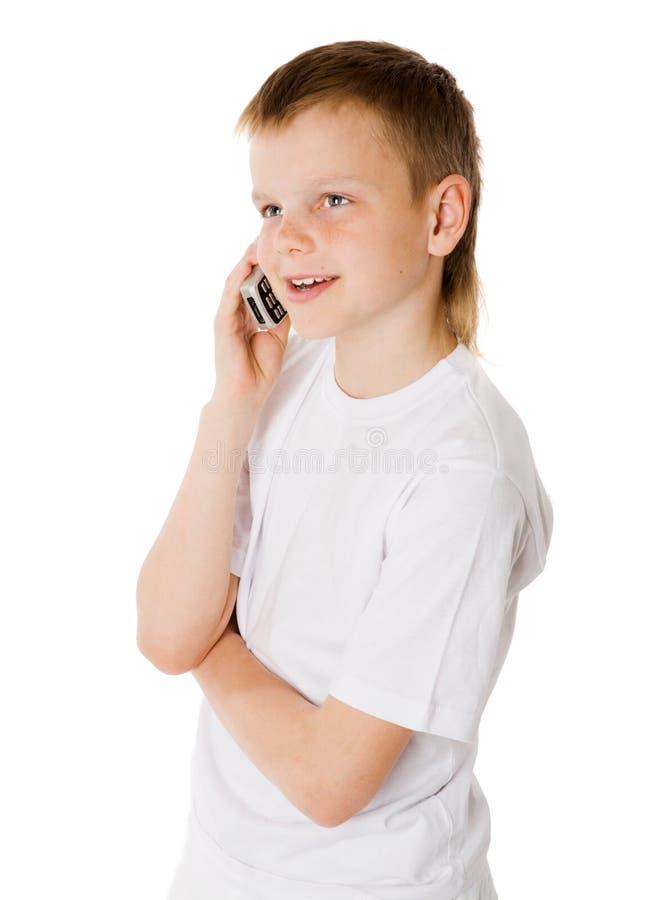 κύτταρο αγοριών στοκ φωτογραφίες με δικαίωμα ελεύθερης χρήσης