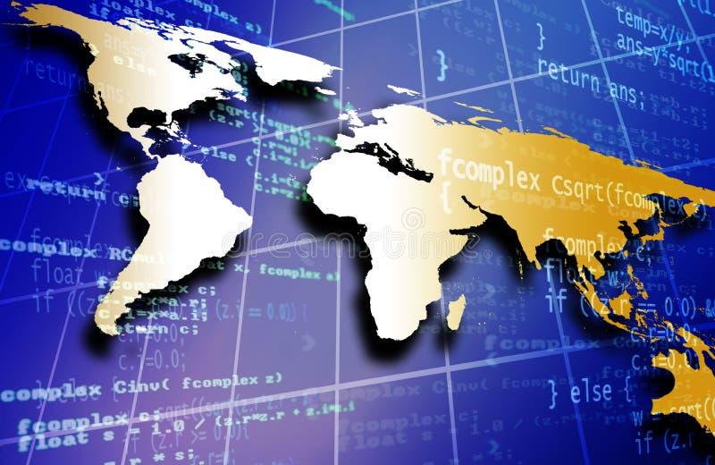 κώδικας παγκοσμίως απεικόνιση αποθεμάτων