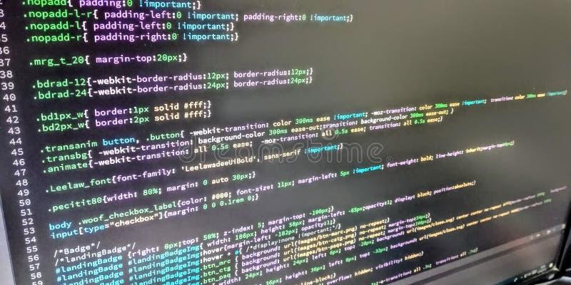 Κώδικας προγραμματιστών Ιστού στοκ εικόνα με δικαίωμα ελεύθερης χρήσης