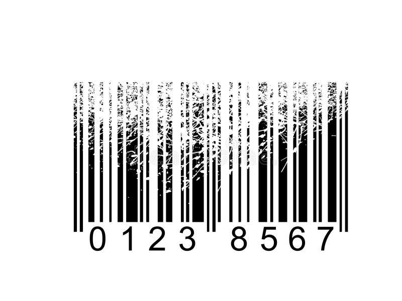κώδικας ράβδων grunge ελεύθερη απεικόνιση δικαιώματος