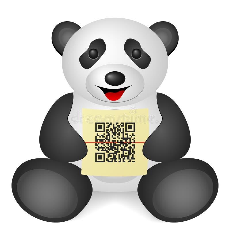 Κώδικας της Panda QR ελεύθερη απεικόνιση δικαιώματος