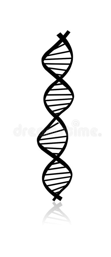 Κώδικας DNA Αφηρημένη εικόνα DNA που απομονώνεται στο άσπρο υπόβαθρο απεικόνιση αποθεμάτων