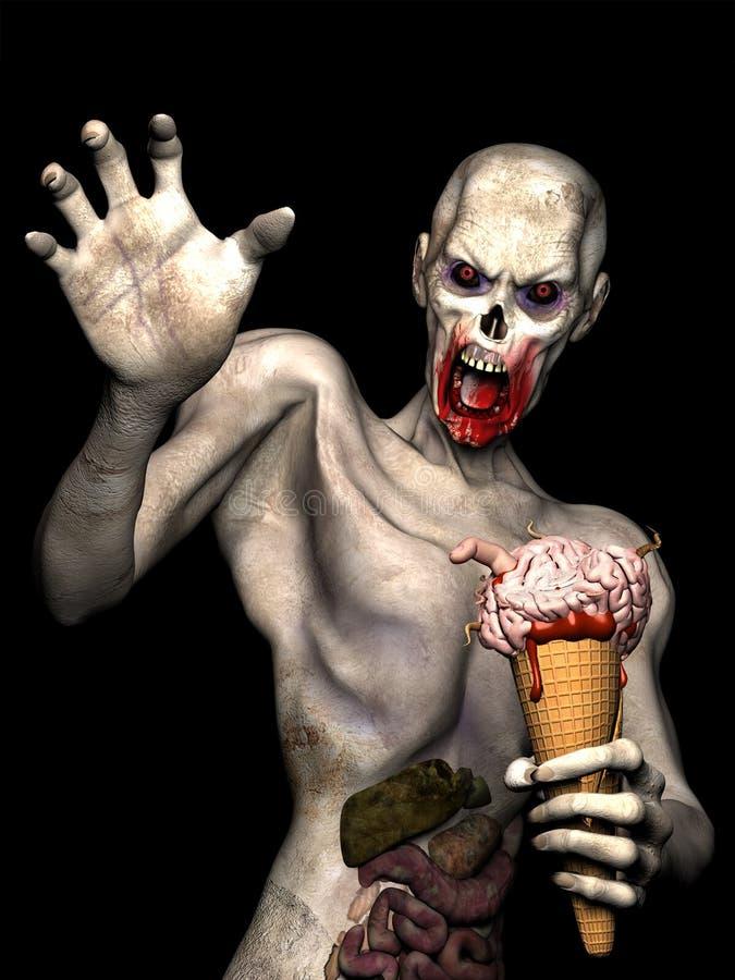Κώνος 1 κρέμας εγκεφάλου Zombie διανυσματική απεικόνιση