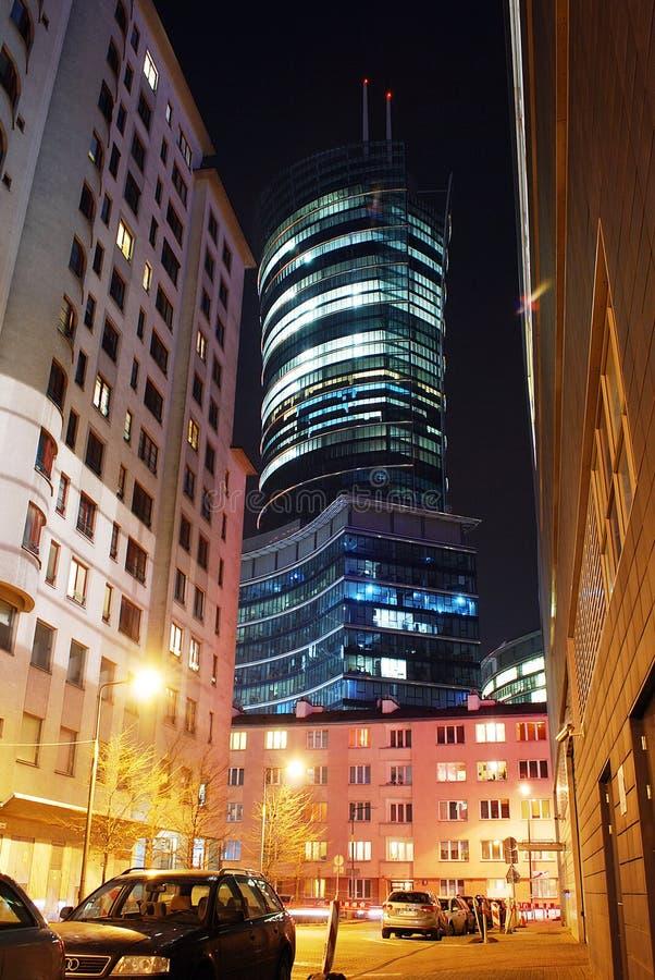 Κώνος της Βαρσοβίας ουρανοξυστών στοκ εικόνα