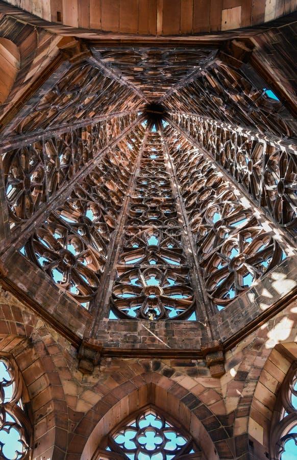 Κώνος του μοναστηριακού ναού Freiburg, Γερμανία στοκ φωτογραφίες με δικαίωμα ελεύθερης χρήσης