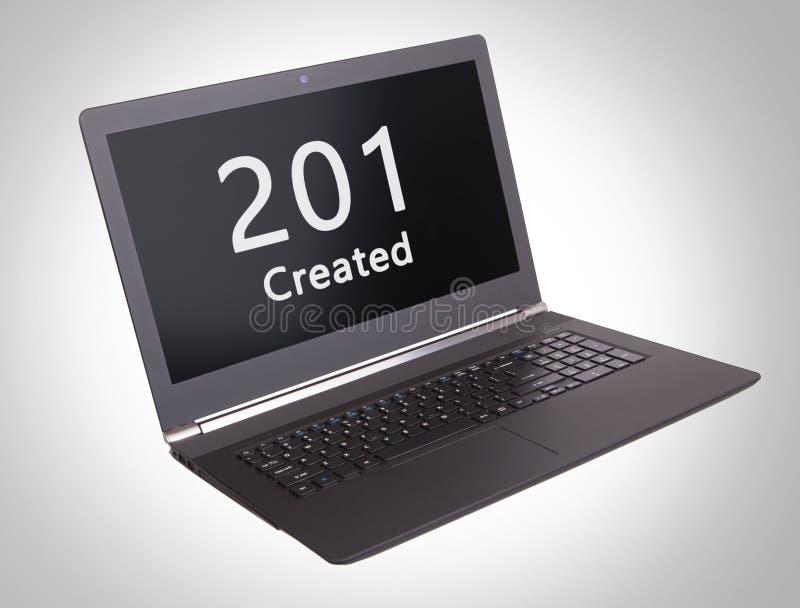Κώδικας θέσης HTTP - 201, δημιούργησαν στοκ φωτογραφία με δικαίωμα ελεύθερης χρήσης