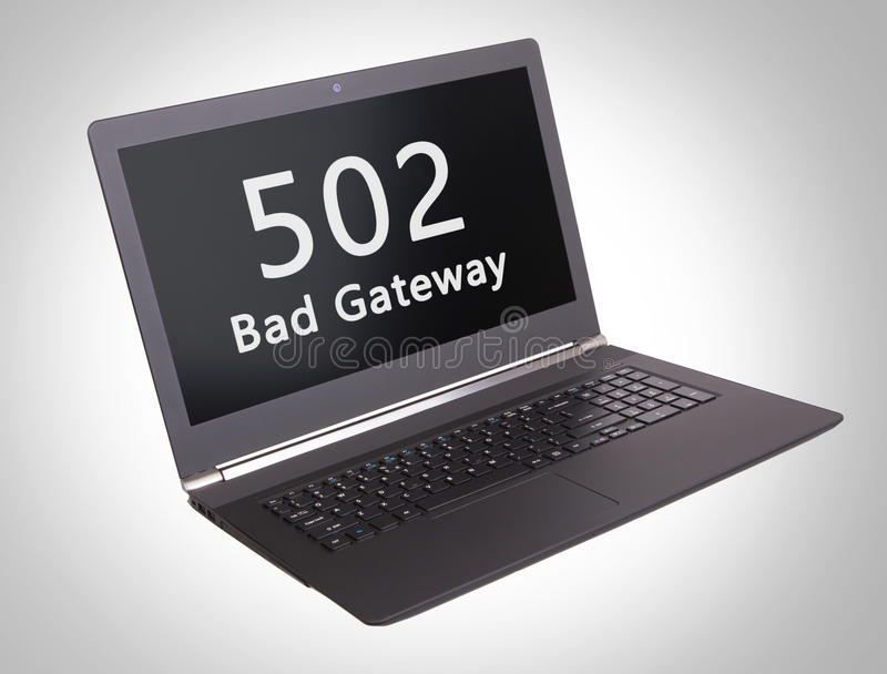 Κώδικας θέσης HTTP - 502, κακή πύλη στοκ φωτογραφία με δικαίωμα ελεύθερης χρήσης