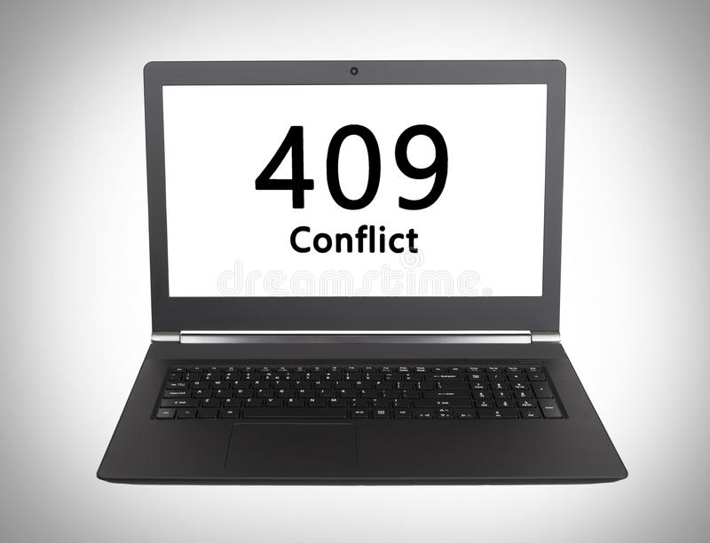 Κώδικας θέσης HTTP - 409, σύγκρουση στοκ φωτογραφίες με δικαίωμα ελεύθερης χρήσης
