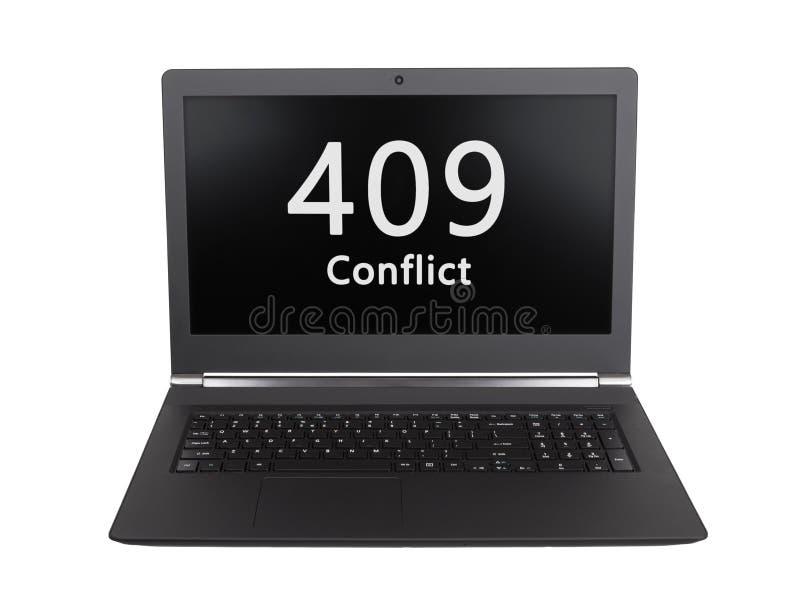 Κώδικας θέσης HTTP - 409, σύγκρουση στοκ εικόνα