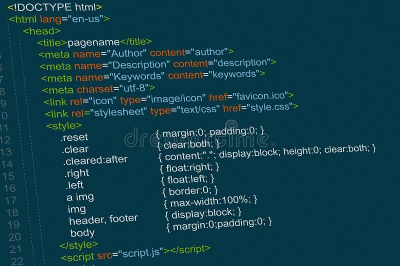 Κώδικας προγράμματος διανυσματική απεικόνιση