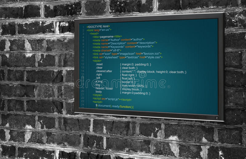 Κώδικας προγράμματος ελεύθερη απεικόνιση δικαιώματος