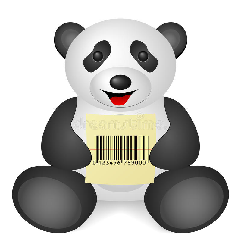 Κώδικας φραγμών της Panda απεικόνιση αποθεμάτων