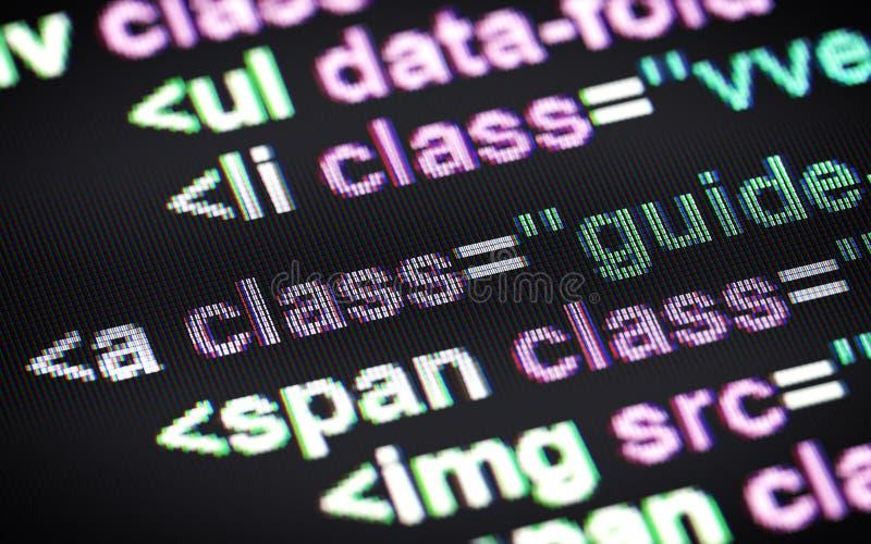 Κώδικας HTML διανυσματική απεικόνιση