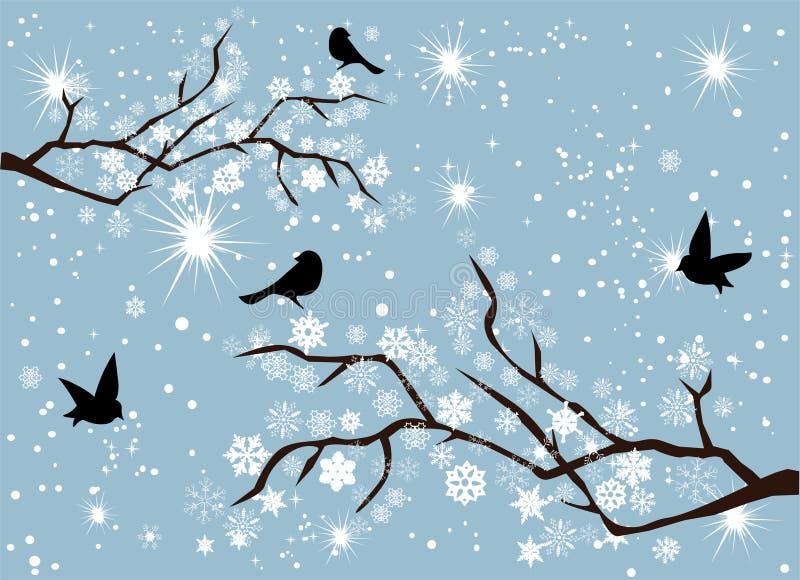 Κλάδοι χιονιού διανυσματική απεικόνιση