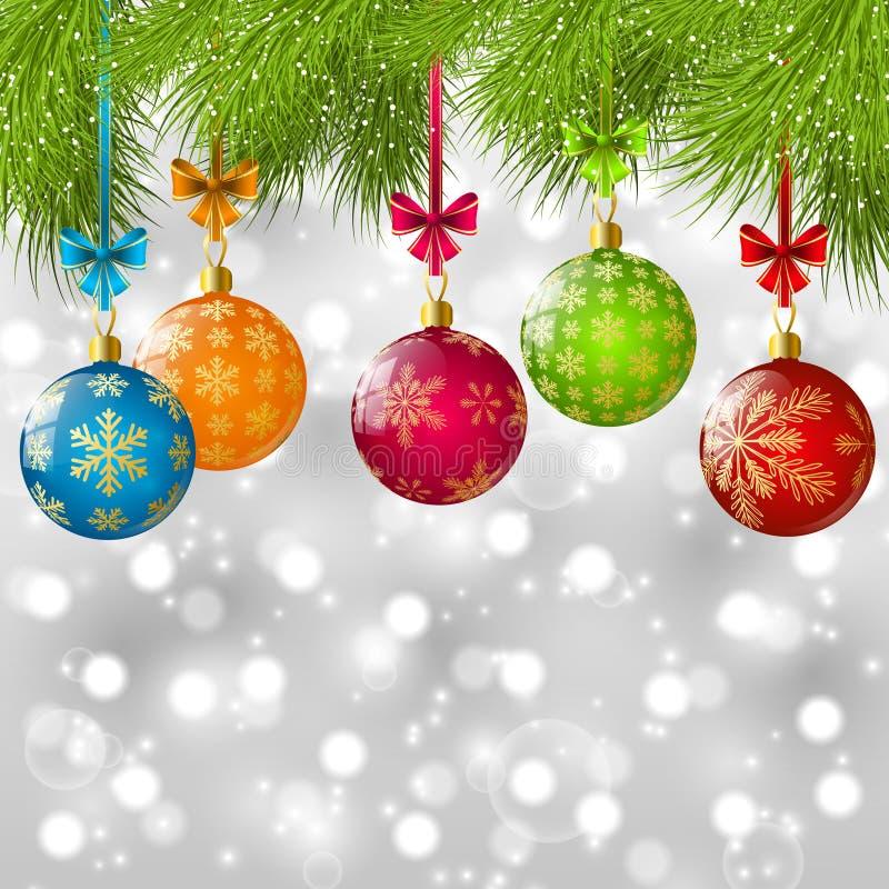 Κλάδοι χριστουγεννιάτικων δέντρων διανυσματική απεικόνιση