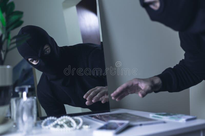 Κλέφτης balaclava στοκ εικόνα
