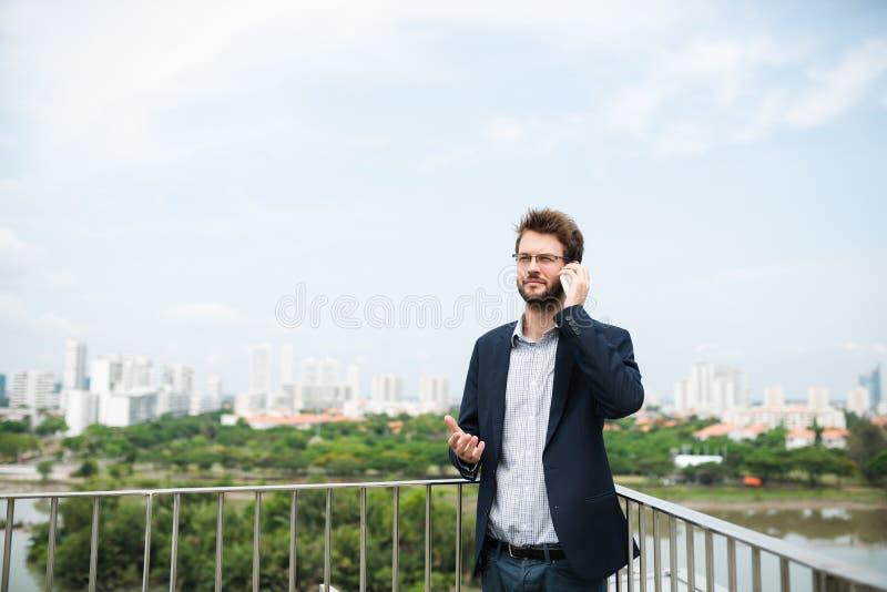 κλήση επιχειρηματιών στοκ φωτογραφίες