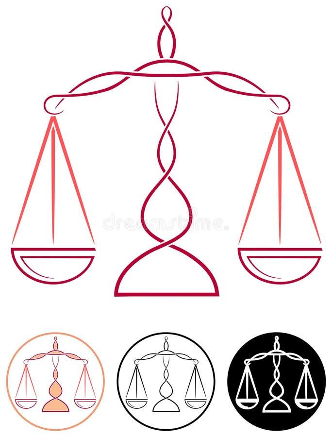 Κλίμακα της δικαιοσύνης ελεύθερη απεικόνιση δικαιώματος