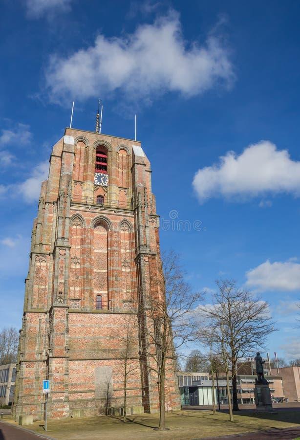 Κλίνοντας πύργος Oldehove στο leeeuwarden στοκ φωτογραφία με δικαίωμα ελεύθερης χρήσης