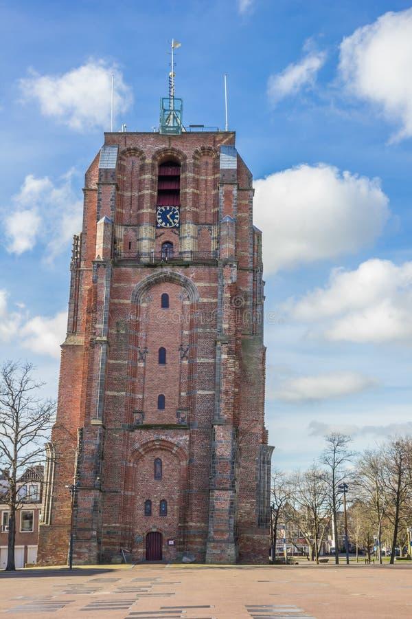 Κλίνοντας πύργος Oldehove στο leeeuwarden στοκ εικόνες με δικαίωμα ελεύθερης χρήσης