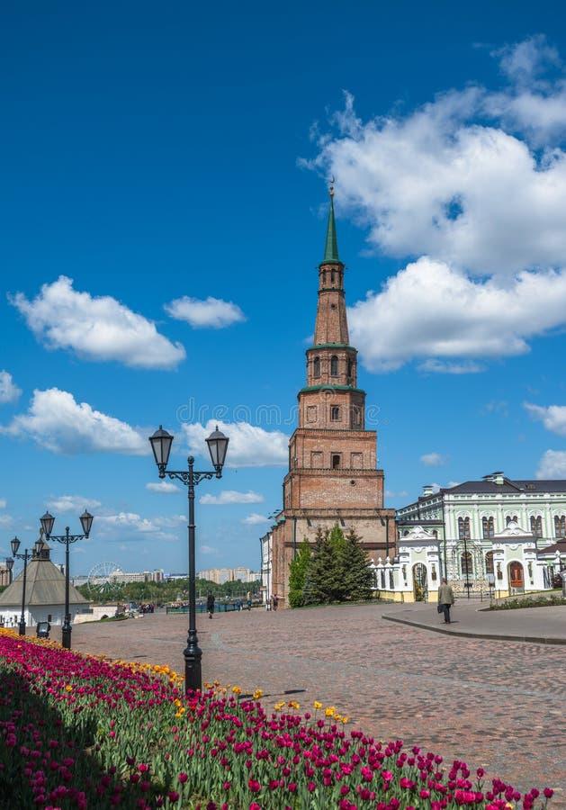 Κλίνοντας πύργος Suyumbike, Kazan Κρεμλίνο, Ταταρία, Ρωσία στοκ φωτογραφίες με δικαίωμα ελεύθερης χρήσης