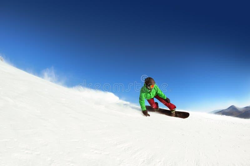 Κλίση γύρων ατόμων snowboarder sheregesh Διάστημα για το κείμενο στοκ φωτογραφία με δικαίωμα ελεύθερης χρήσης