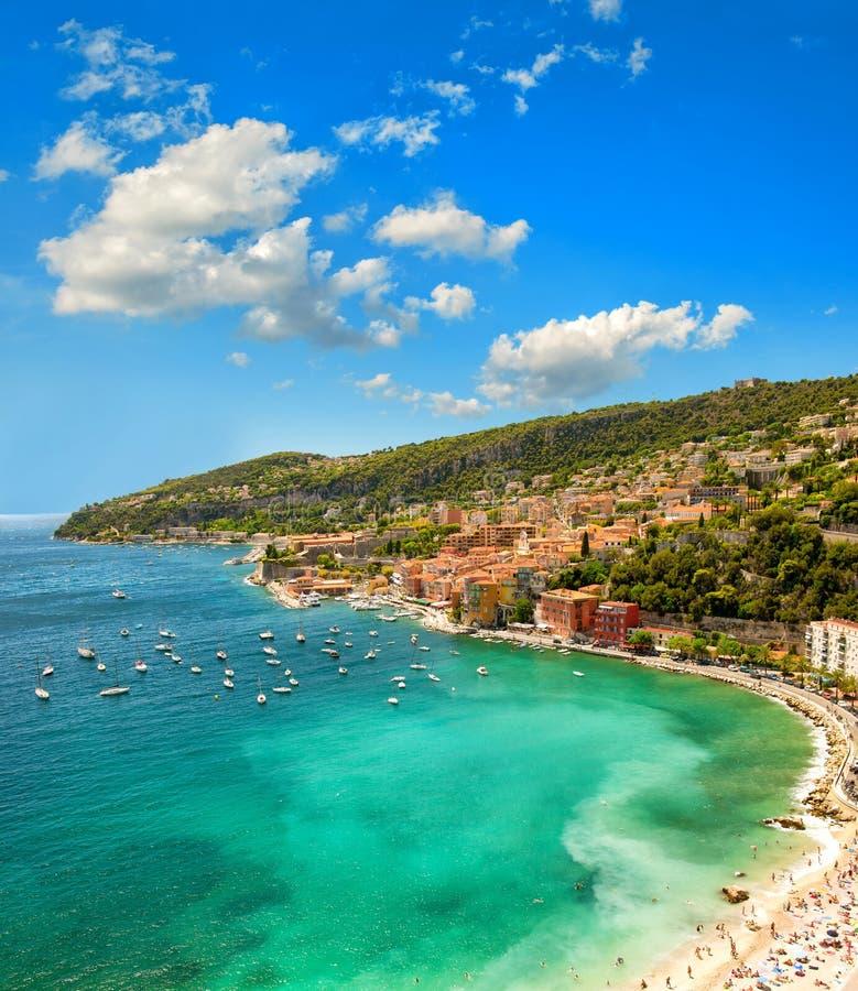 κλίση που αλιεύει το μεσογειακό καθαρό τόνο θάλασσας Γαλλικό Riviera, Γαλλία μπλε ουρανός στοκ φωτογραφία με δικαίωμα ελεύθερης χρήσης