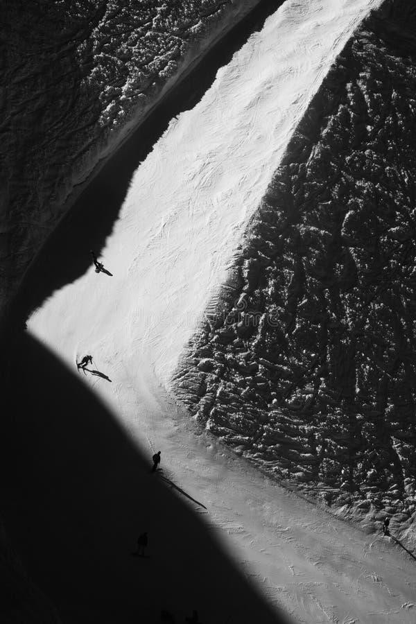 Κλίση σκι - γραπτή στοκ φωτογραφίες με δικαίωμα ελεύθερης χρήσης