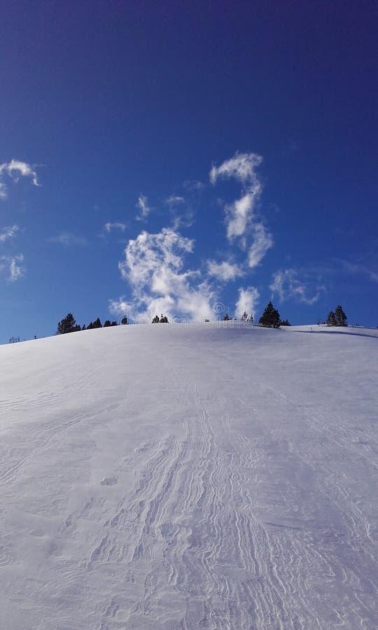 Κλίση χιονιού στοκ εικόνα