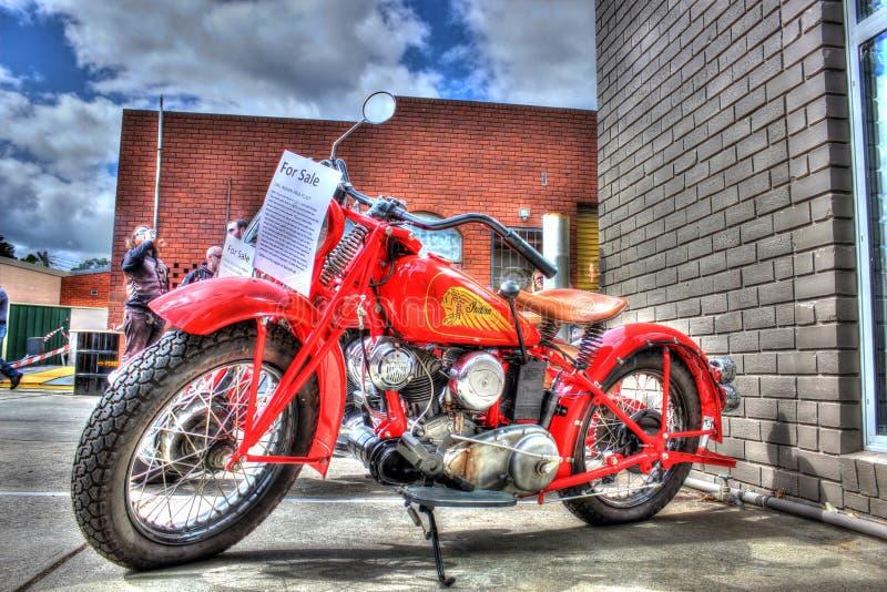 Κλασική αμερικανική ινδική μοτοσικλέτα της δεκαετίας του '40 στοκ εικόνες με δικαίωμα ελεύθερης χρήσης