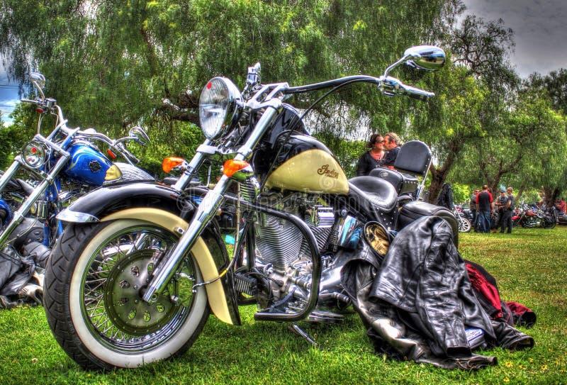 Κλασική αμερικανική ινδική μοτοσικλέτα στοκ εικόνες