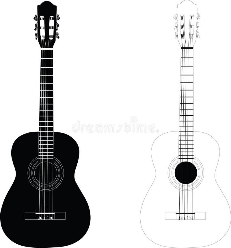 κλασική κιθάρα ελεύθερη απεικόνιση δικαιώματος