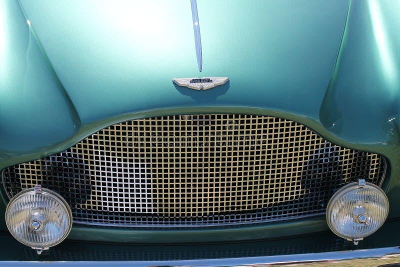 Κλασική μπροστινή λεπτομέρεια αυτοκινήτων Βρετανού στοκ εικόνα