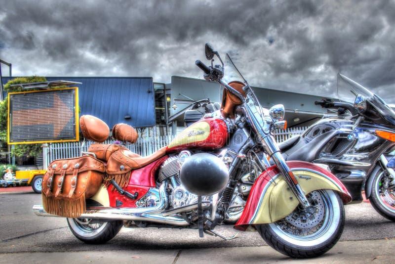 Κλασικός Αμερικανός έχτισε την ινδική μοτοσικλέτα στοκ εικόνες