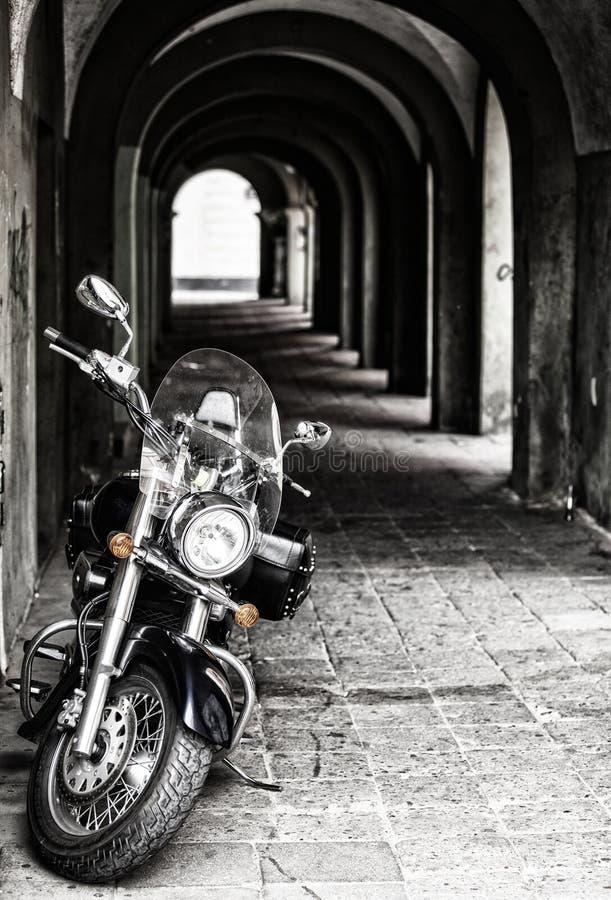 Κλασικός μπαλτάς, μαύρη μοτοσικλέτα στοκ φωτογραφία με δικαίωμα ελεύθερης χρήσης