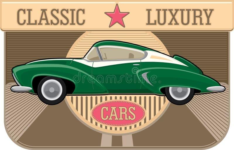 Κλασικό αυτοκίνητο διανυσματική απεικόνιση