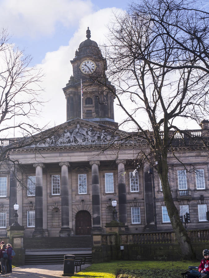 Κλασικό Δημαρχείο σχεδίου στο Λάνκαστερ Αγγλία στοκ φωτογραφία με δικαίωμα ελεύθερης χρήσης