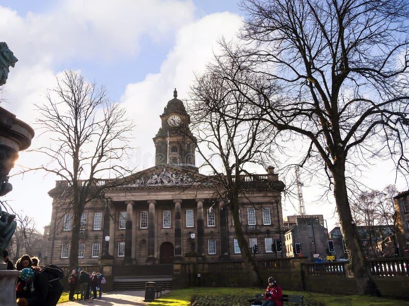 Κλασικό Δημαρχείο σχεδίου στο Λάνκαστερ Αγγλία στοκ εικόνα με δικαίωμα ελεύθερης χρήσης