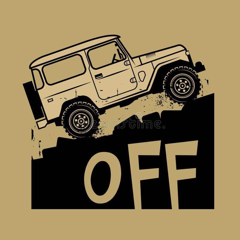 Κλασικό πλαϊνό σημάδι ή σύμβολο αυτοκινήτων suv ελεύθερη απεικόνιση δικαιώματος