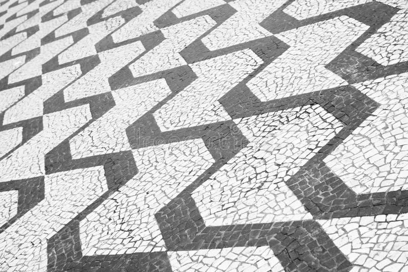 Κλασικό σχέδιο πεζοδρομίων του Σάο Πάολο Βραζιλία στοκ φωτογραφίες με δικαίωμα ελεύθερης χρήσης