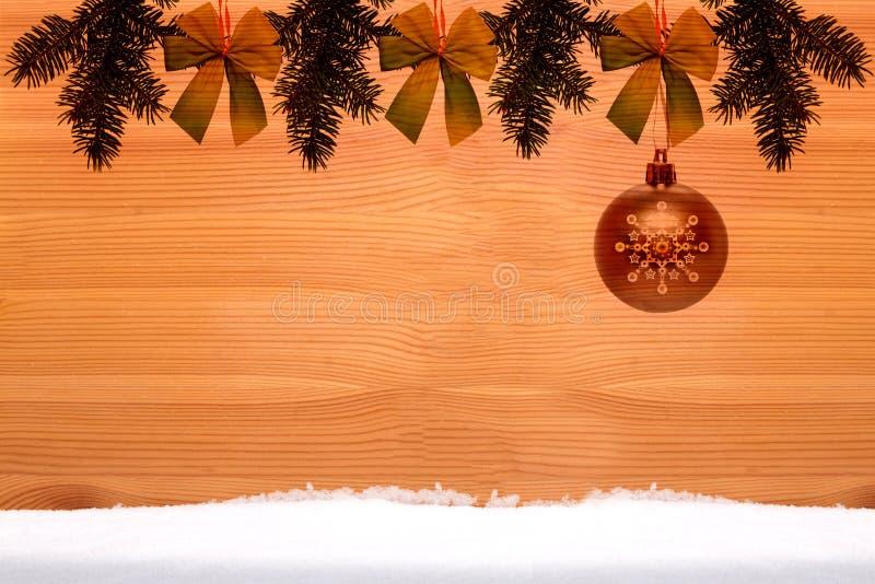 Κλασικό υπόβαθρο Χριστουγέννων στοκ φωτογραφία με δικαίωμα ελεύθερης χρήσης