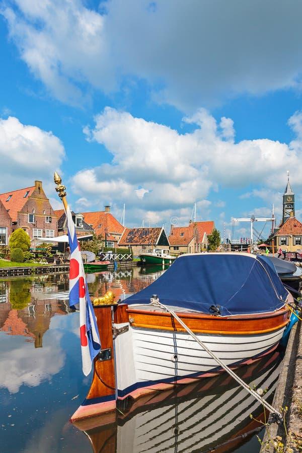Κλασικό sloop σε Hindeloopen, οι Κάτω Χώρες στοκ εικόνα